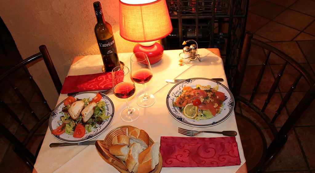 Manger une salade à Carcassonne